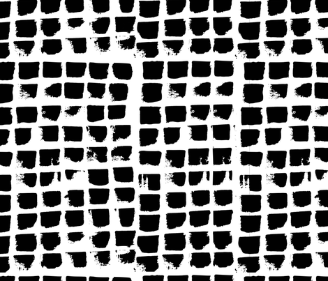 Abstract Brush strokes in black and white fabric by gemmacosgroveball on Spoonflower - custom fabric