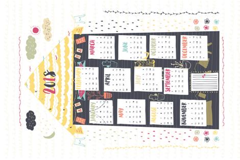 2018 fabric by sonja_stojcevski on Spoonflower - custom fabric