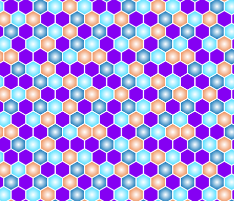 Hexagons_Purples_and_blues-01 fabric by joannereay on Spoonflower - custom fabric