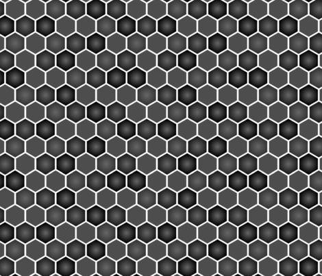 Hexagons_Greys-01 fabric by joannereay on Spoonflower - custom fabric