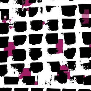 Abstract Brush strokes black and pink