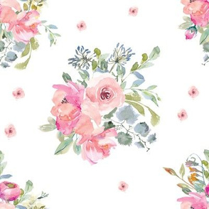 "8"" Blushing Beauty Florals // White"