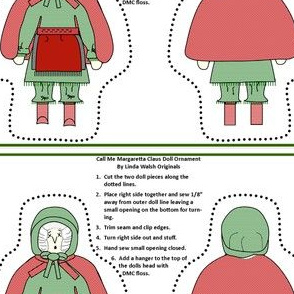 Christmas Call Me Margaretta Claus Cut and Sew Doll