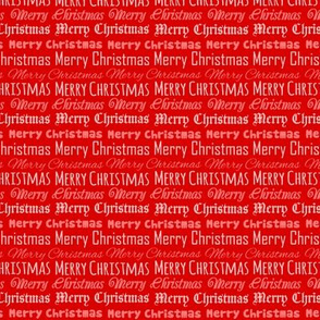 Merry Christmas Type on Red