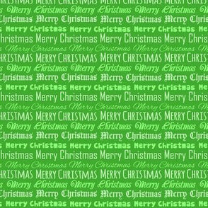 Merry Christmas Type on Green