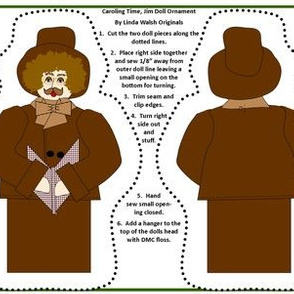 Christmas Caroling Time Jim Cut and Sew Doll
