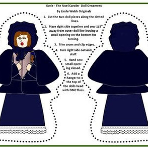 Christmas Katie The Noel Caroler Cut and Sew Doll