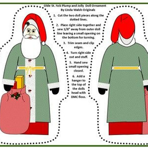 Christmas Olde St Nick Plump and Jolly Cut and Sew Doll
