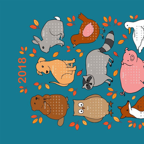 animalcalendarforspoonflower