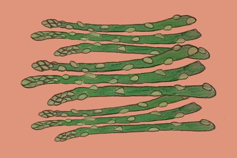 Asparagus, Farm to Tea Towel fabric by lisakling on Spoonflower - custom fabric