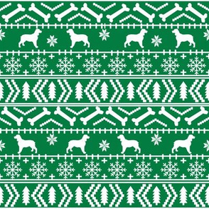 English Springer Spaniel fair isle christmas dog fabric dog breeds green