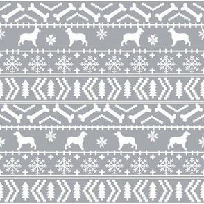 English Springer Spaniel fair isle christmas dog fabric dog breeds grey