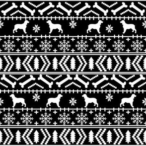 English Springer Spaniel fair isle christmas dog fabric dog breeds black and white
