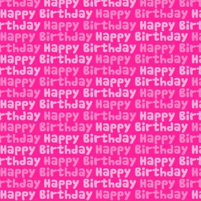 Happy Birthday Type on Pink