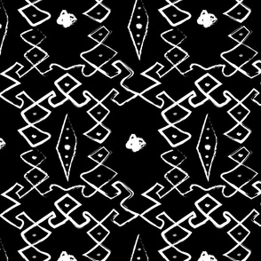 BurdaStyle Geo White on Black Print
