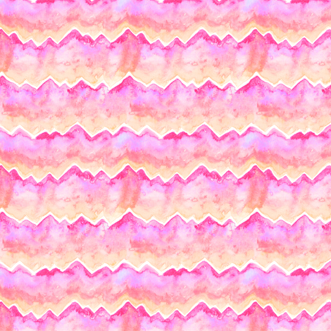 Mountain Ridges | Sunrise fabric by bexdsgn on Spoonflower - custom fabric