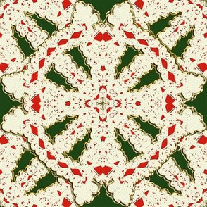 Red and Green Christmas Kaleidoscope