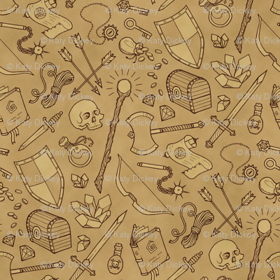 Inventory in Sepia