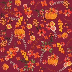 Floral Pumpkin Fall