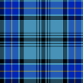 "Hannay tartan, 6"" blue"