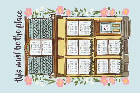 HouseCalendar2018 fabric by holmeshandmade on Spoonflower - custom fabric