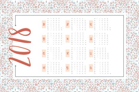 2018 Tea Towel fabric by radianthomestudio on Spoonflower - custom fabric