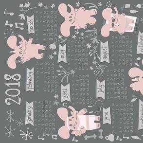 """When elephants fly"" new year resolutions 2018 calendar"