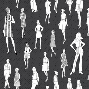 1960's Fashion - Mod Girls of the '60s | Charcoal Dot