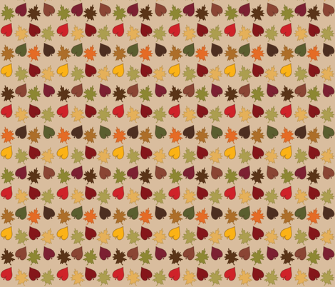 Fall Leaf Scatter fabric by vickennobile on Spoonflower - custom fabric