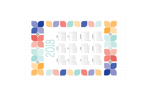 2018-colors-cal fabric by ruby_rhea on Spoonflower - custom fabric