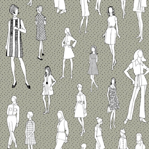 1960's Fashion - Mod Girls of the '60s | Taupe Dot