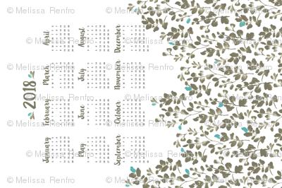 Wildflower Fields Calendar 2018
