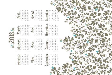Wildflower Fields Calendar 2018 fabric by lissad on Spoonflower - custom fabric