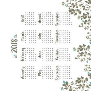 Wildflower Fields Calendar 2018
