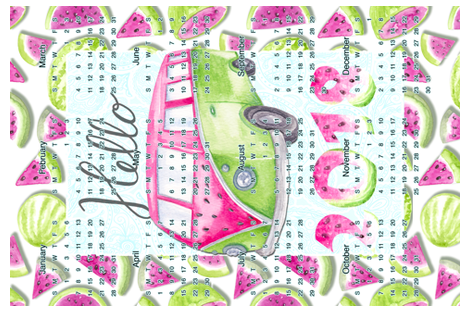Hello 2018 fabric by gingerlique on Spoonflower - custom fabric