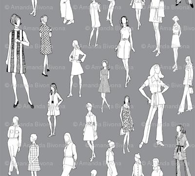 1960's Fashion - Mod Girls of the '60s | Dark Grey