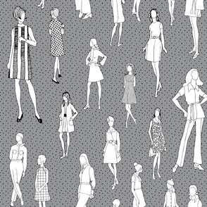 1960's Fashion - Mod Girls of the '60s | Dark Grey Dot