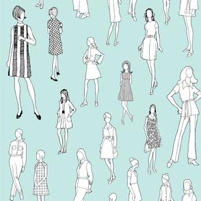 1960's Fashion - Mod Girls of the '60s | Light Blue