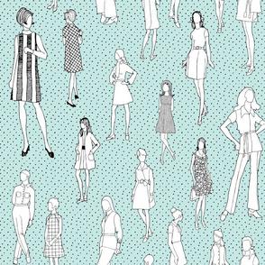1960's Fashion - Mod Girls of the '60s | Light Blue Dot
