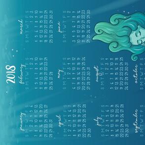 2018 Calendar - Mermaid