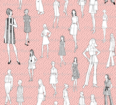 1960's Fashion - Mod Girls of the '60s - Pink Dot