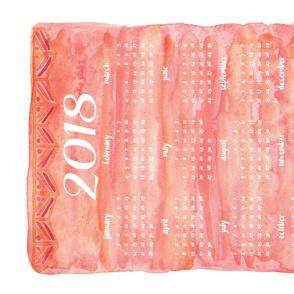 Bohem Watercolor 2018 Calendar