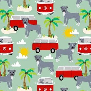 pitbull beach fabric palm trees - mint