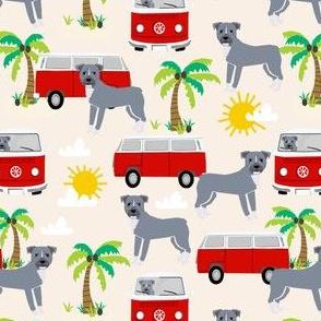 pitbull beach fabric palm trees - light