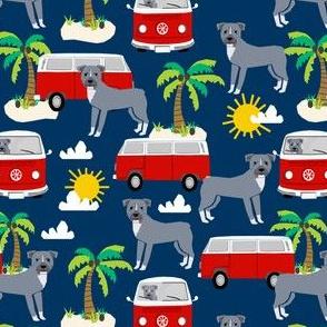 pitbull beach fabric palm trees - navy
