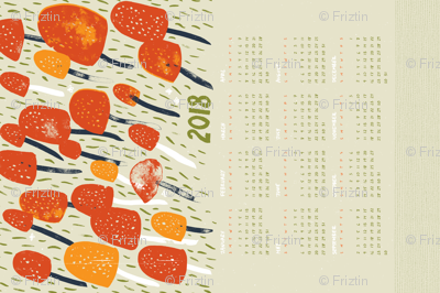 2018 Mushroom Calendar M+M Quinoa by Friztin - Cut & Sew