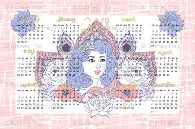 2018 Tea Towel Calendar