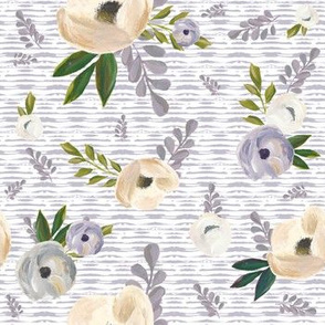"7"" Cold Winter Florals - Lilac Stripes"