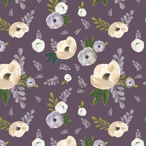 "4"" Cold Winter Florals - Winter Purple"