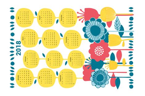 Scandinavian inspired tea towel fabric by ellie_b_funk on Spoonflower - custom fabric